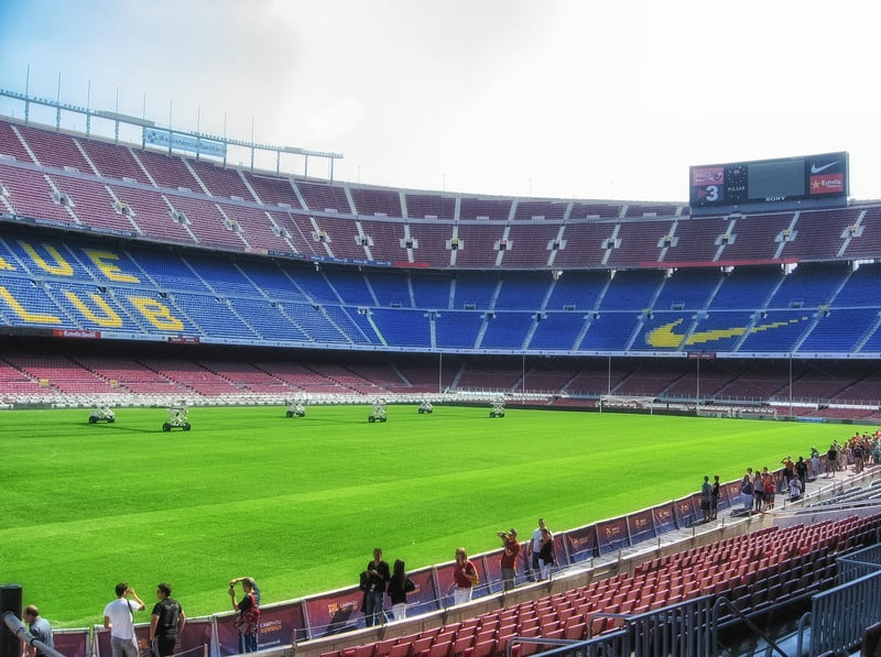 BARCELONA - View of Camp Nou, the stadium, on March 21, 2011 in Barcelona. It is the largest stadium in Europe and the 13th largest in the world in terms of capacity.