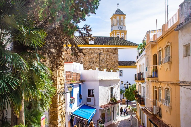 secret places to visit in spain, spain nature destinations, street in marbella, spain