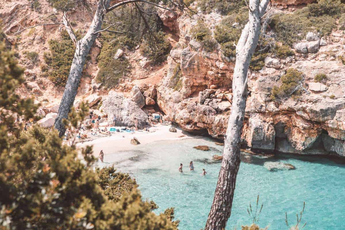 Caló des Moro, Mallorca, nature places in spain, most beautiful nature in spain