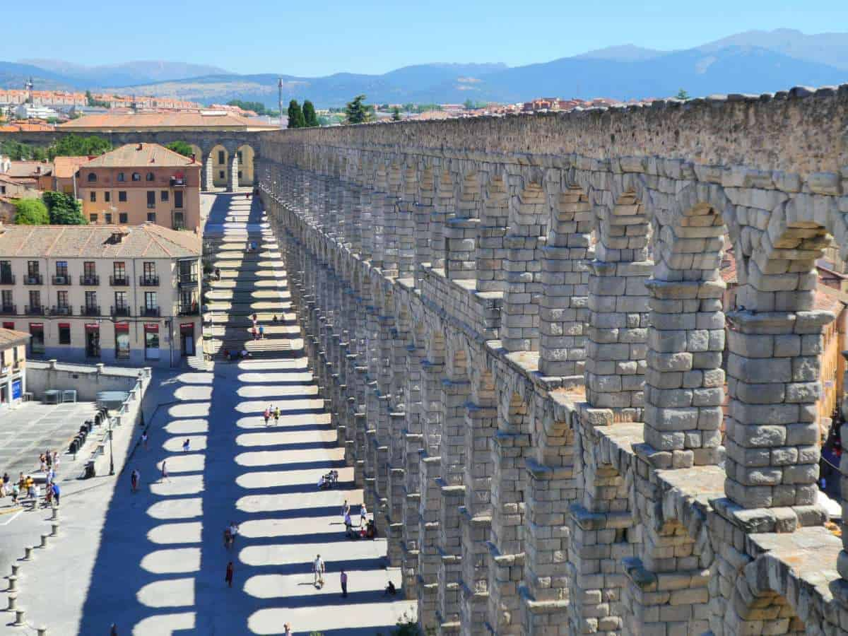 Segovia Aqueduct, nicest places in spain, spain locations