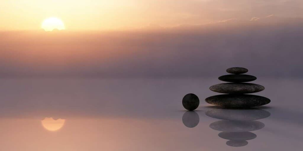 yoga retreats in wisconsin, stones on a lake