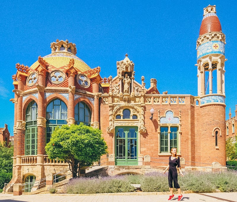 barcelona hospital sant pau, famous buildings in barcelona