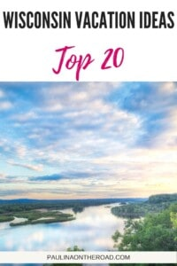 Get inspired for your Wisconsin Holiday with these 20 cool Wisconsin Vacation Ideas including romantic getaways in Wisconsin, vacation day trips from Milwaukee, city trip to Madison or Wisconsin Vacation Ideas with Kids and of course Wisconsin Dells. Of if you love road trips in Wisconsin, or the outdoors, there is a Wisconsin vacation idea for you! Let's hit the road! #wisconsin #usa #vacationideas #milwaukee #madison #lakegeneva #waterfalls #hiking #romanticgetaway #wisconsintrips