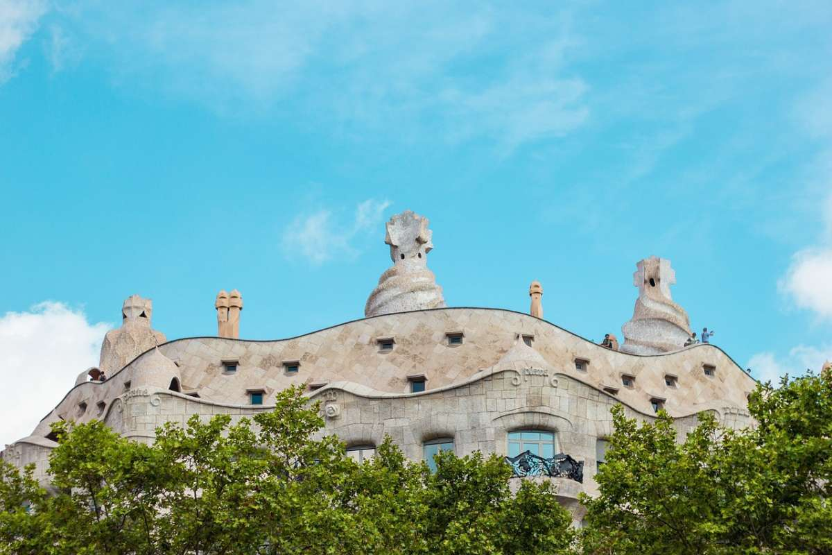 Most famous buildings in Barcelona, Roof of Casa Mila