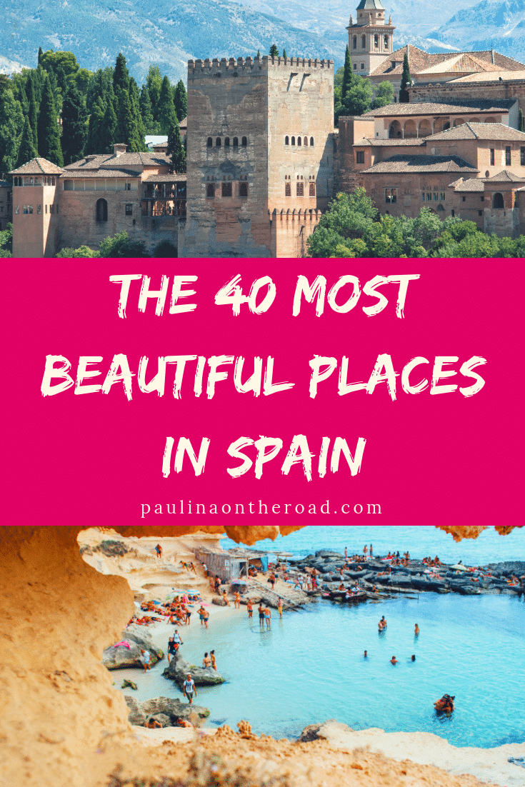 Explore the most beautiful places in Spain according to Travel Bloggers. They recommend the best beaches in Spain, delicious tapas in Spain, and the most vibrant towns in Spain. #spain #visitspain #barcelona #seville #costadelsol
