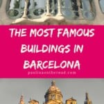 What are the most famous buildings in Barcelona? Explore a guide to the best Gaudi attractions and Gaudi Buildings in Barcelona, Spain including Casa Batllo, Sagrada Familia and many more Gaudi architecture. Let's explore! #barcelona #spain #gaudiarchitecture #gaudi