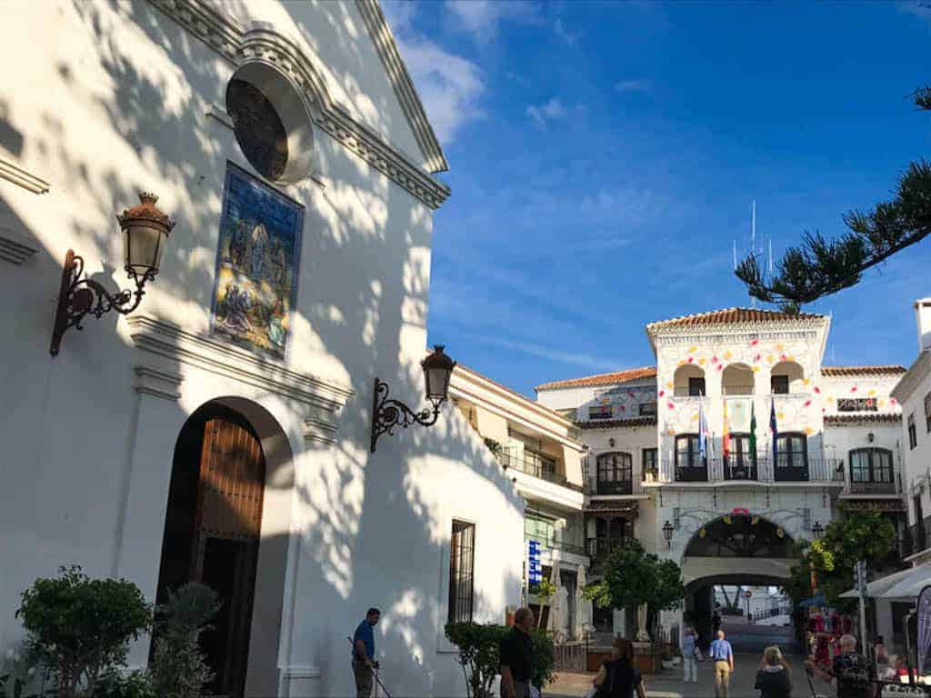 the best places in spain, secret places to visit in spain, sqaure in nerja, spain