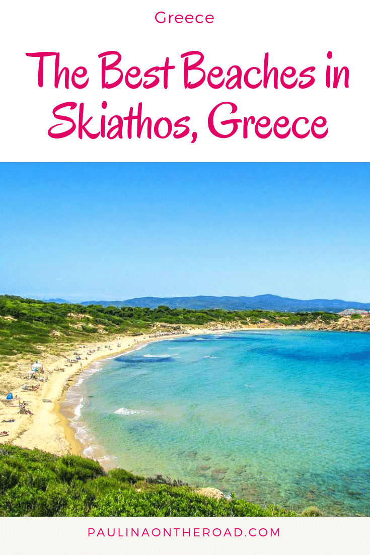 Dream about the best beaches on Skiathos, Greece. This Greek island is a raw hidden gem and its pristine beaches will make you fall in love. Read on about the best Greek beaches on Skiathos island. #greece #greekislands #skiathos