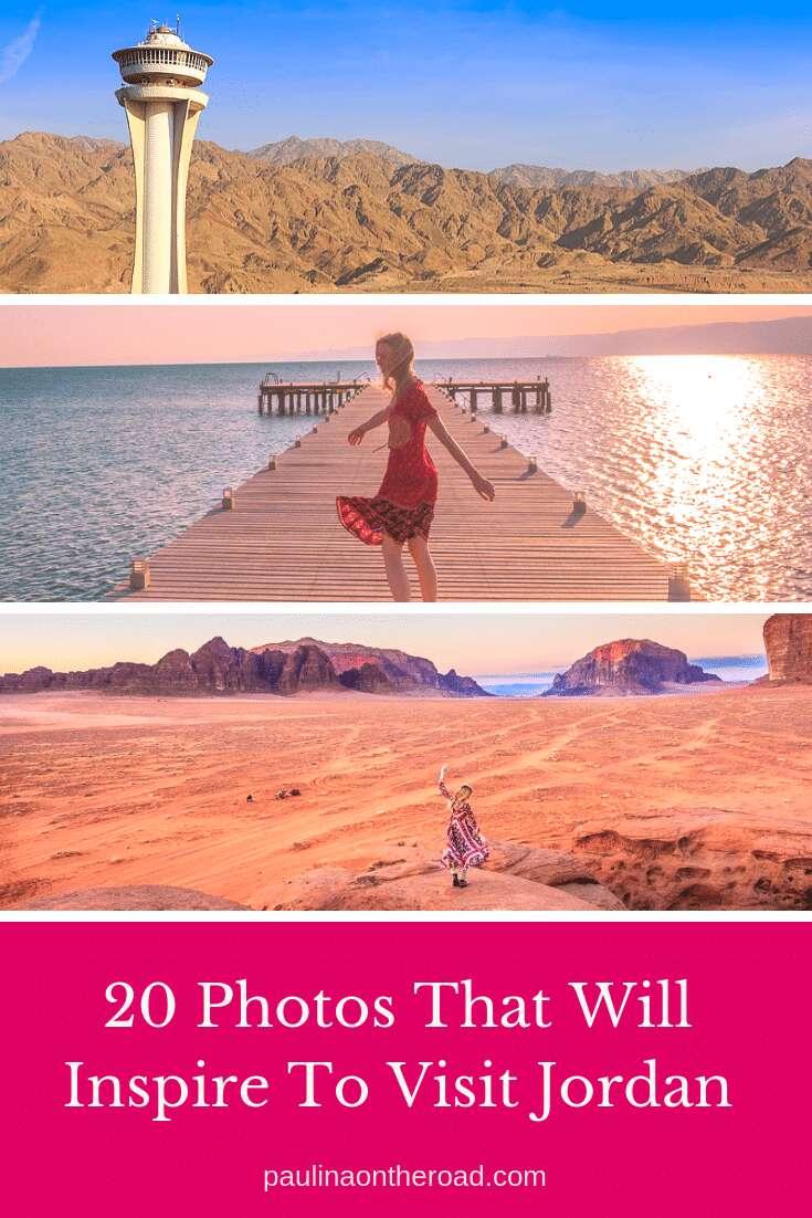 Are You looking for travel inspiration for Jordan? These 20 Photos will give you plenty of wanderlust to visit Jordan asap! #visitjordan #jordan #wadirum #aqaba #amman