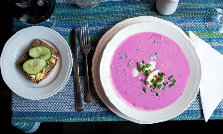 Chlodnik - Cold Borscht Soup from Poland