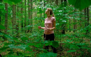 things to do in bialowieza forest, girl hiking in bialowieza forest