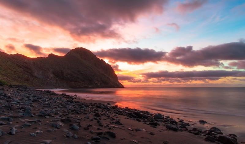 Sunrise in Antequera, Tenerife.