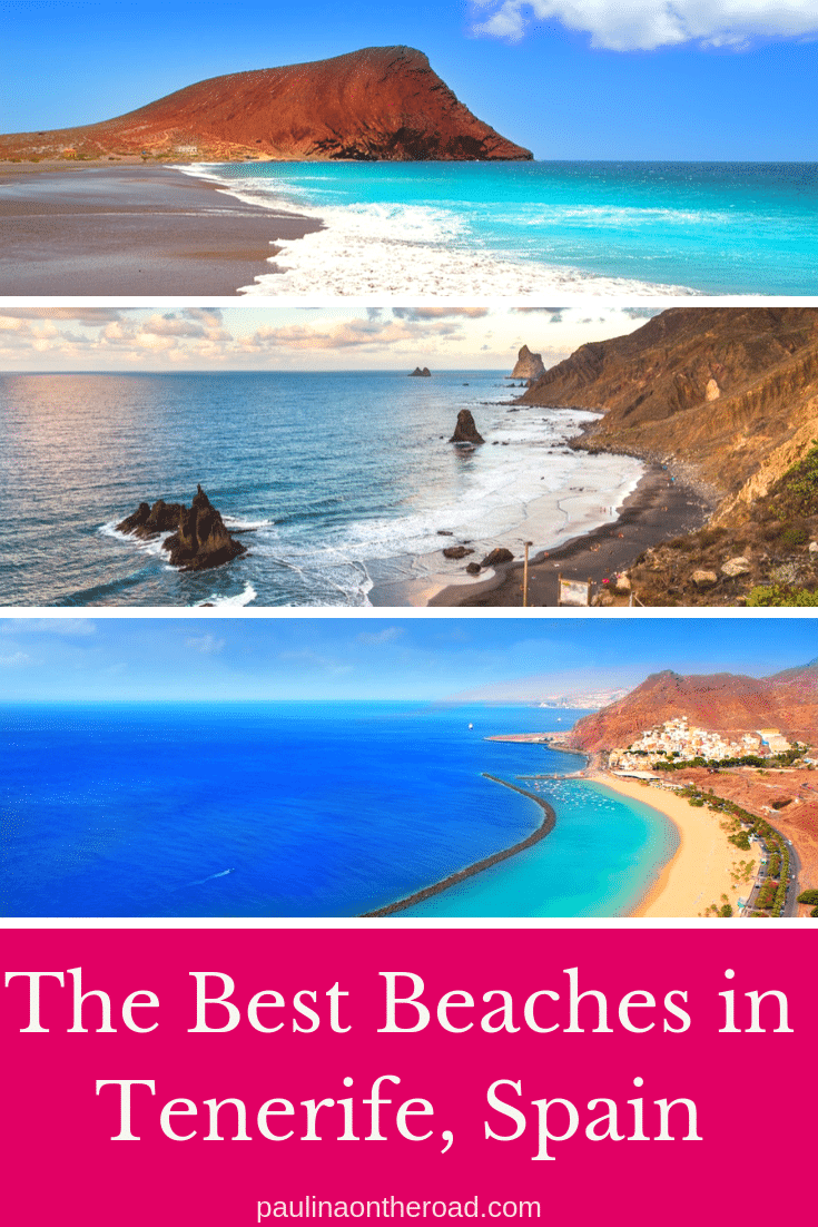 Explore the best beaches in Tenerife, Spain! This guide takes you to volcanic black beaches, golden sand and party, beautiful beaches in Tenerife island. #tenerife #spain #tenerifebeaches #canaryislands