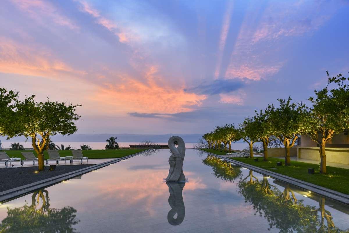 best dead sea hotels, jordan, kempinski resort with swimming pool and dead sea spa treatments