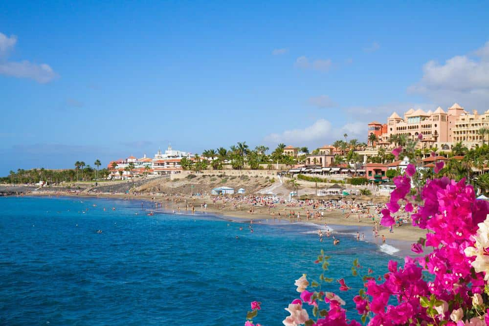 best beaches in tenerife, volcanic sand beach, golden sand beach, las teresitas beach, costa adeje beach, scenic beach, secluded beach in tenerife, canary islands, los gigantes