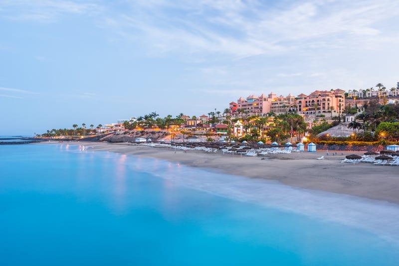 Playa el Duque in Tenerife at dawn