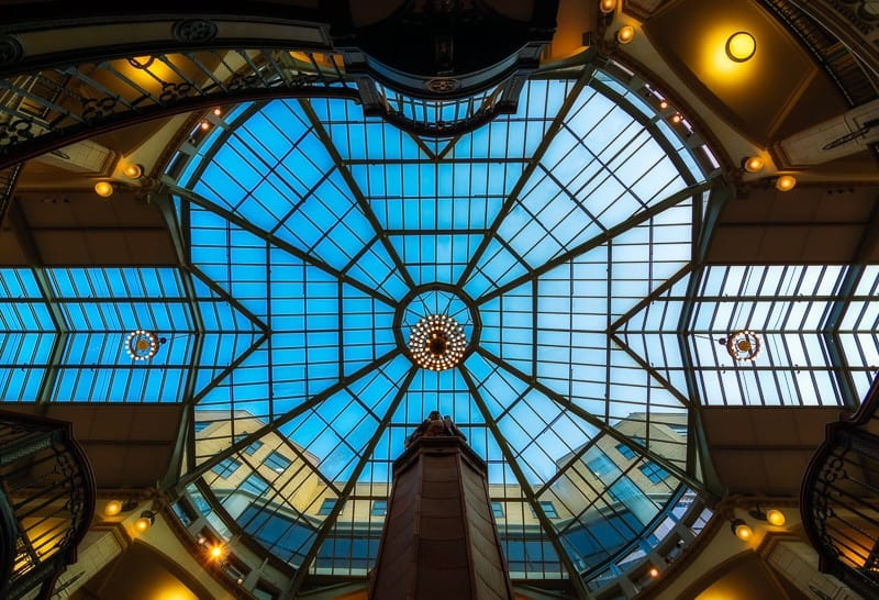 Atrium of a shopping mall in milwaukee
