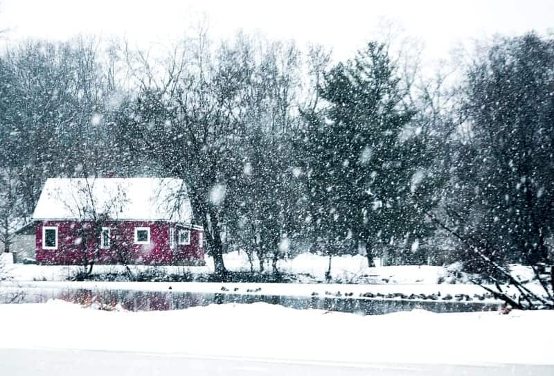 Winter Getaways in Wisconsin,  Best view of cabin winter season