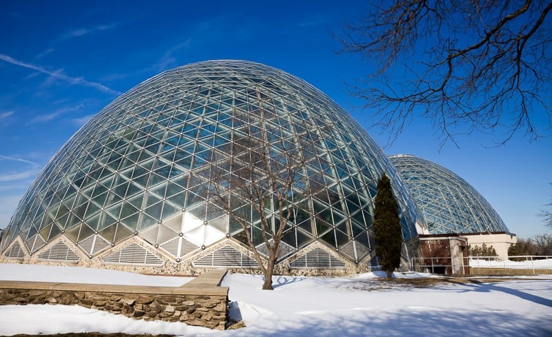 Domes in Milwaukee, Wisconsin, USA.