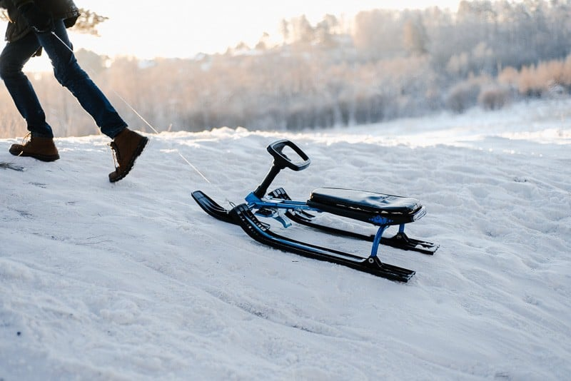 sled on ice outdoor