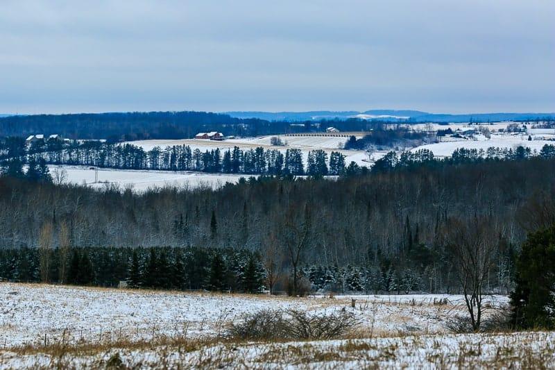 beautiful winter wisconsin landscape, Central Wisconsin, a country landscape in winter