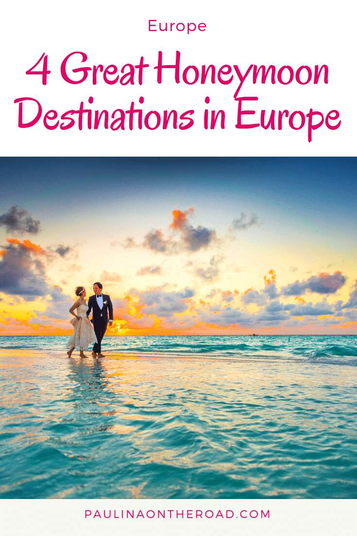 An inspirational Guide to European Honeymoon destinations including Greece, Spain and more during your honeymoon in Europe. #europeanhoneymoon #honeymoonineurope #honeymoondestinations