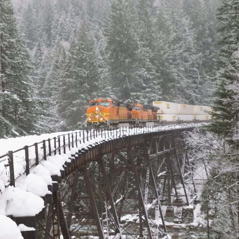 snow train in winter, wisconsin snow train