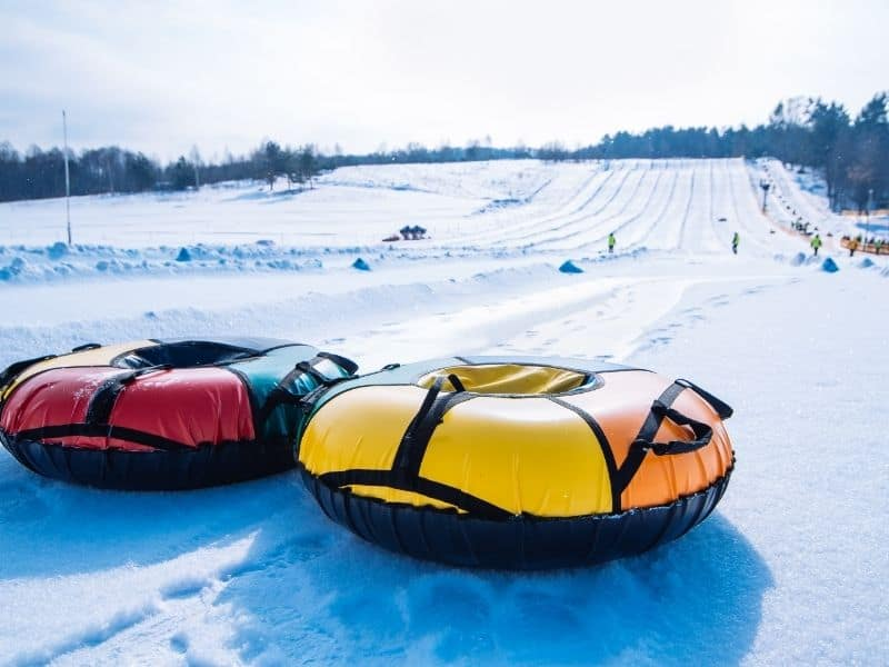 best Wisconsin snow tubing resorts, snow field ground with Snow tubing in Sunburst