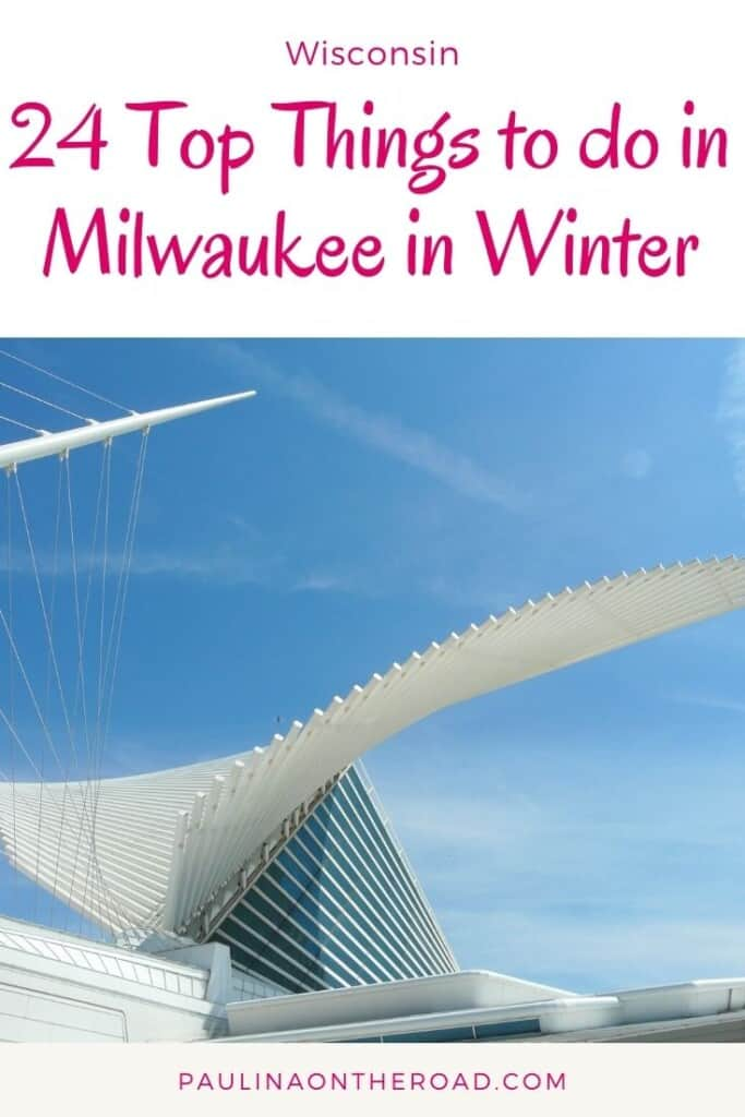 What to do in Milwaukee in Winter? This guide takes you to the most fun Milwaukee winter activities incl. winter festivals, Christmas shopping in Milwaukee, Wisconsin. There are plenty of things to do in Milwaukee in winter no matter whether you love ice curling, do a day trip, or attend a winter fest in Milwaukee. Or why not go snow shoing? #milkwaukee #wisconsin #milwaukeewinter #milwaukeewisconsin #milwaukeewinteractivities #winterusa #winterdestinations #iceskating #snowshoeing #winteractivities