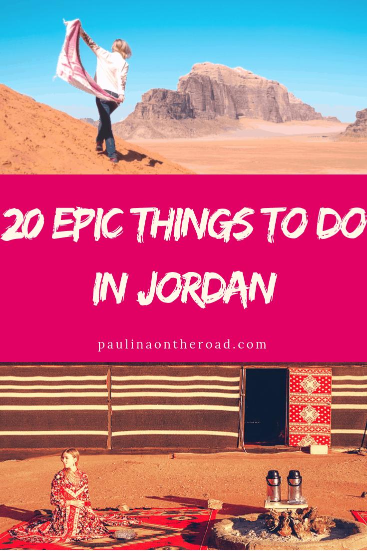 Are you looking for things to do in Jordan? This guide takes you to the best places in Jordan and must-do activities in Jordan incl. Wadi Rum, Petra and much more. #jordan #jordantravel #petra #pinkcity #middleeasttravel #wadirum #wadirumdesert #deadseajordan
