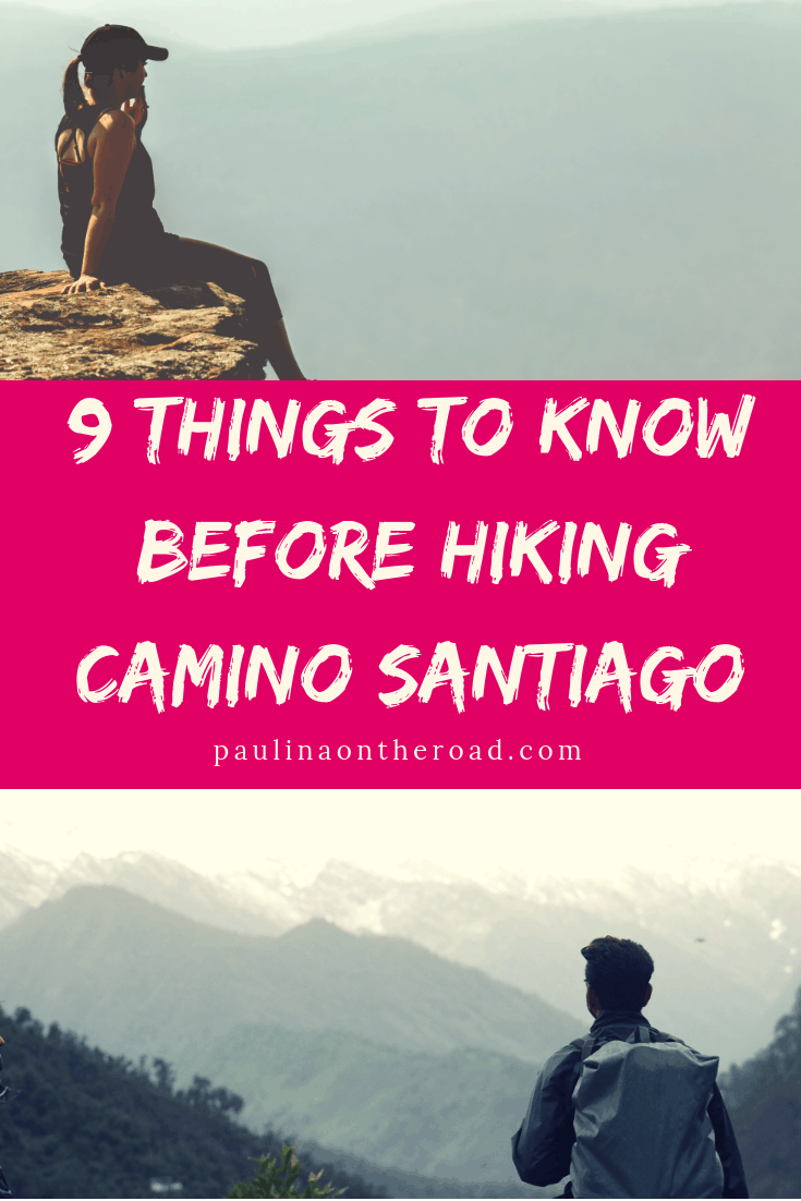 What to know before hiking Santiago Trail, Spain? Based on real experience, these 9 valuable tips are gold when hiking the Camino de Santiago, Spain. #caminodesantiago #camino #santiagotrailspain #hikingspain #visitspain #outdoorspain #spiritualtravel