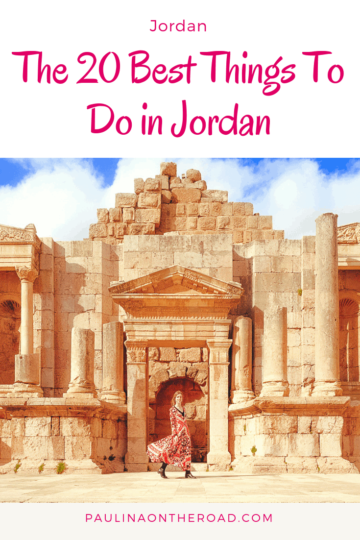 Are you looking for things to do in Jordan? This guide takes you to the best places in Jordan and must-do activities in Jordan incl. Wadi Rum, Petra and much more. #jordan #jordantravel #petra #pinkcity #middleeasttravel #wadirum #wadirumdesert #deadseajordan