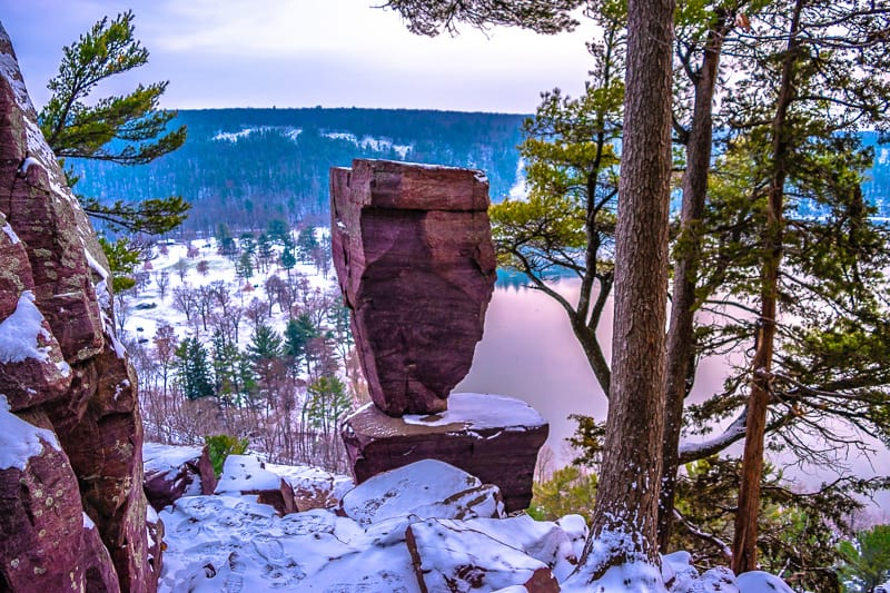 best hiking trails in wisconsin, hiking in wisconsin, outdoor wisonscin, northern wisconsin, This was a wonderful winter hike at Devil's Lake in Wisconsin