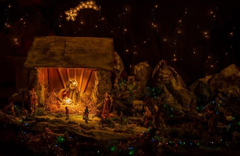 A christmas scene. The Holy family, Jesus, Joseph & Mary