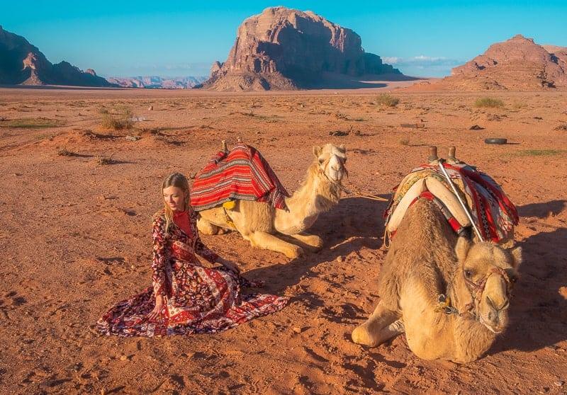 things to do in jordan, camels in wadi rum