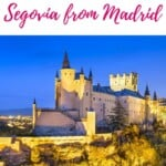 What's the best day trip from Madrid? Segovia! Read how to get from Madrid to Segovia and explore the Segovia acqueduct, the castle and the best Spanish food to eat in Segovia. #segovia #visitspain #daytrip #daytripsfrommadrid #madridblog #spainblog #travelspain #spain #europetravel #europecities #europecastles #segociaacqueduct