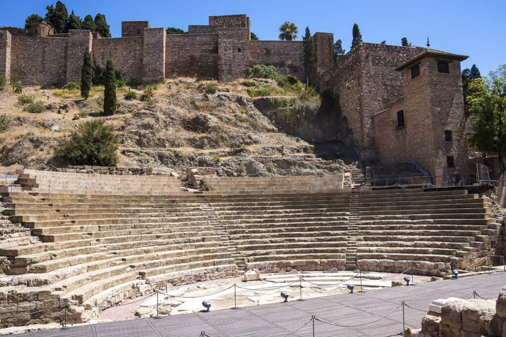 What is Spain known for? malaga spain, roman theatre