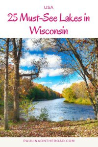 What are the best Wisconsin lakes? A full Wisconsin travel guide on the best swimming lakes, the best fishing lakes in Wisconsin. Wondering what's the biggest or deepest lake in Wisconsin? Read on! #wisconsin #travelwisconsin #visitwisconsin #wisconsinlakes #wisconsinlakehouse #wisconsinlakevacation #lakevacations #cabinvacations #midwest