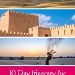 Wondering what to do in Oman? A complete Oman itinerary if you're planning to spend 10 days in Oman incl hotels in Oman, hiking, Wadi Shab, deserts and forts. #muscat, #nizwa #oman #omanitinerary #wadi #middleeast #roadtrip #omanmuscat