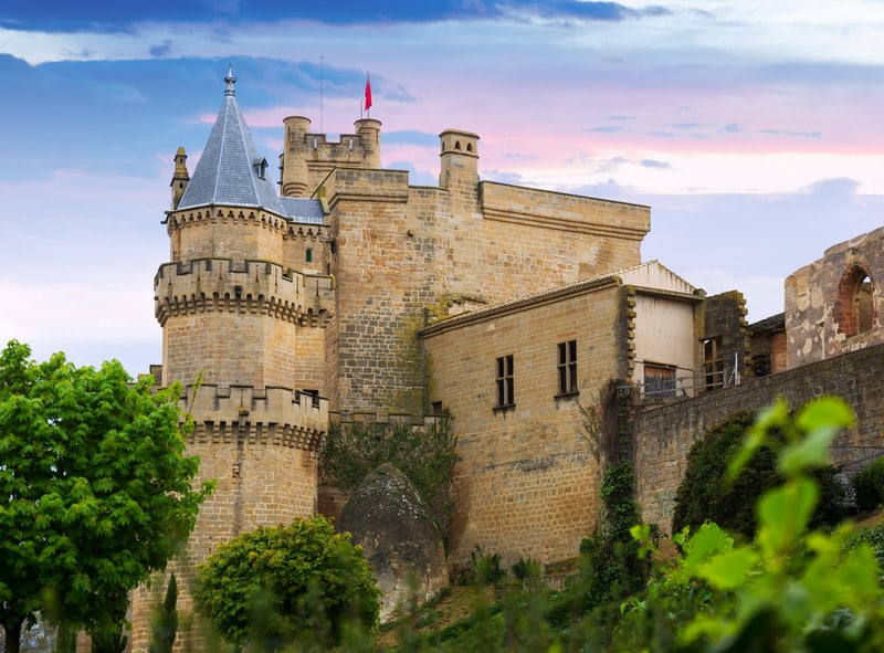 best paradores in spain, navarra, olite parador, castle hotels in spain