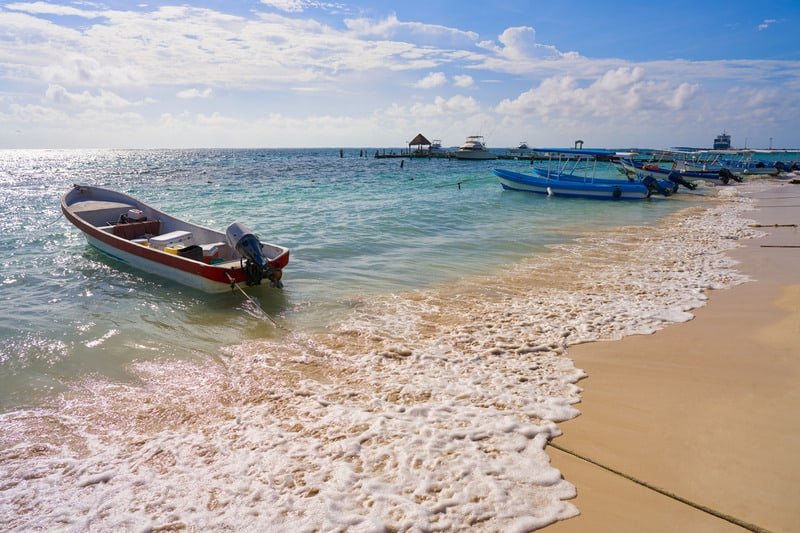 best beaches in riviera maya, palm trees,, puerto morelos beach, hotels, resorts