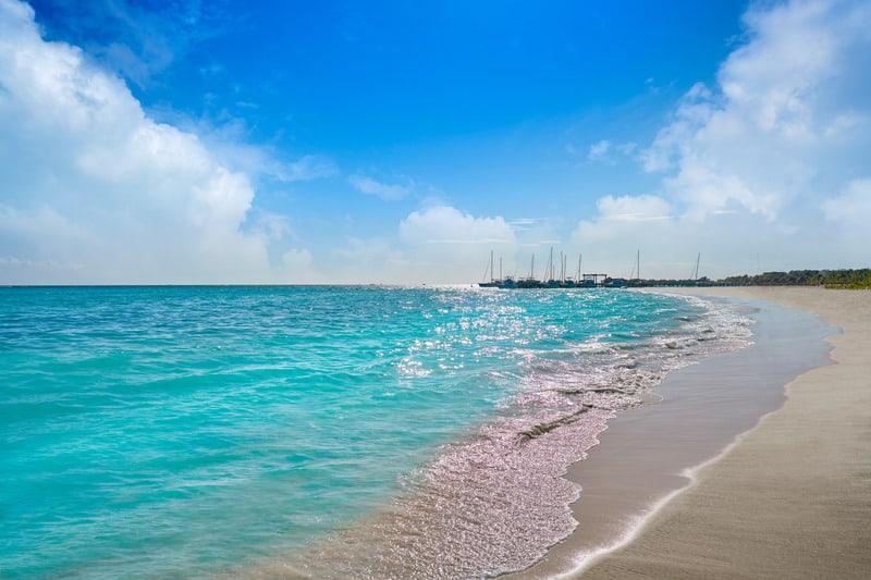 best beaches in riviera maya, palm trees, tulum beach, hotels, resorts
