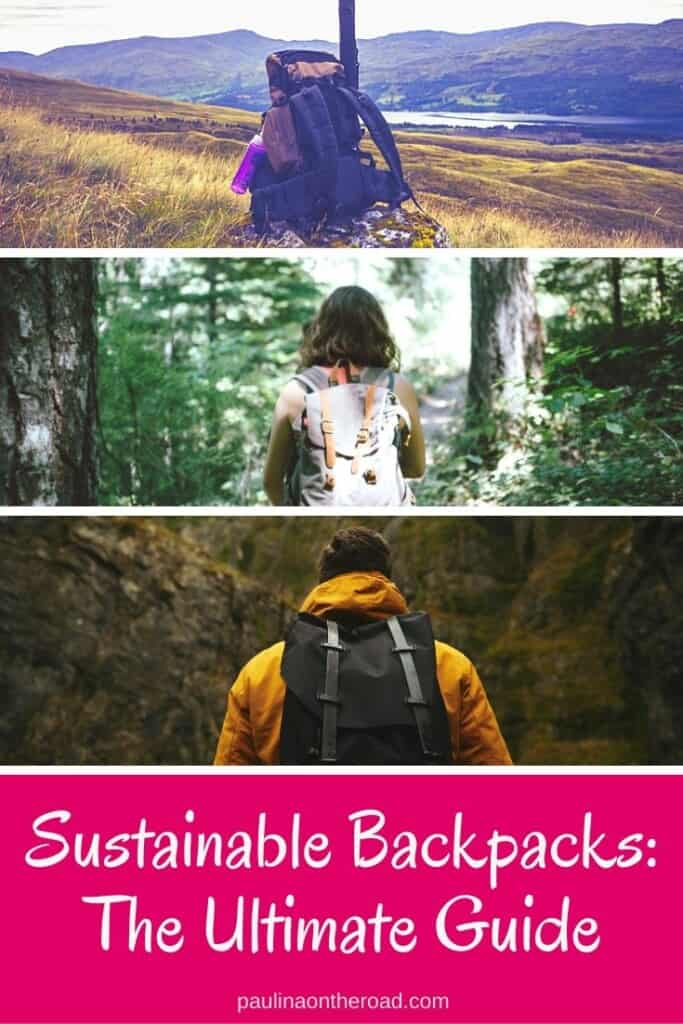 Looking for sustainable backpacks? A guide to the best eco-friendly travel backpacks made from recycled material including sustainable hiking backpacks and laptop backpacks. #sustainable #backpack #sustainablebackpacks #recycling #recycledmaterial #ecofriendlyfashion #ecofriendlybackpack