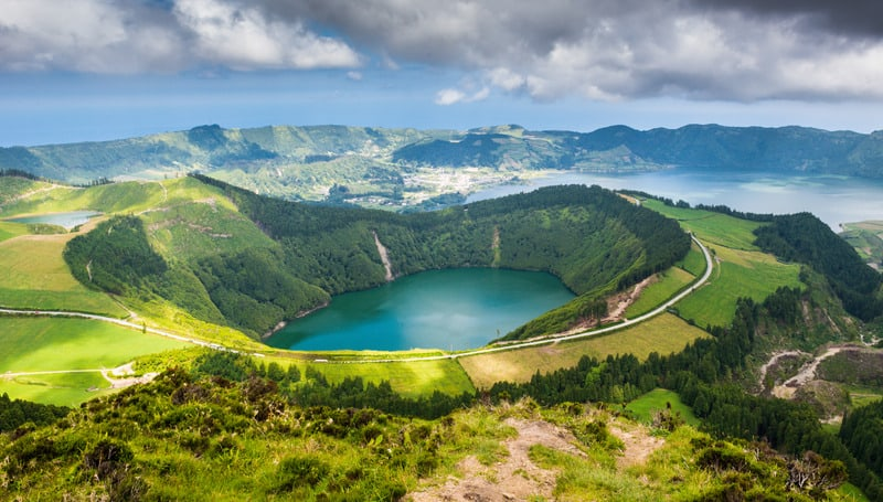 best azores hiking trails, portugal, sete cidades lake