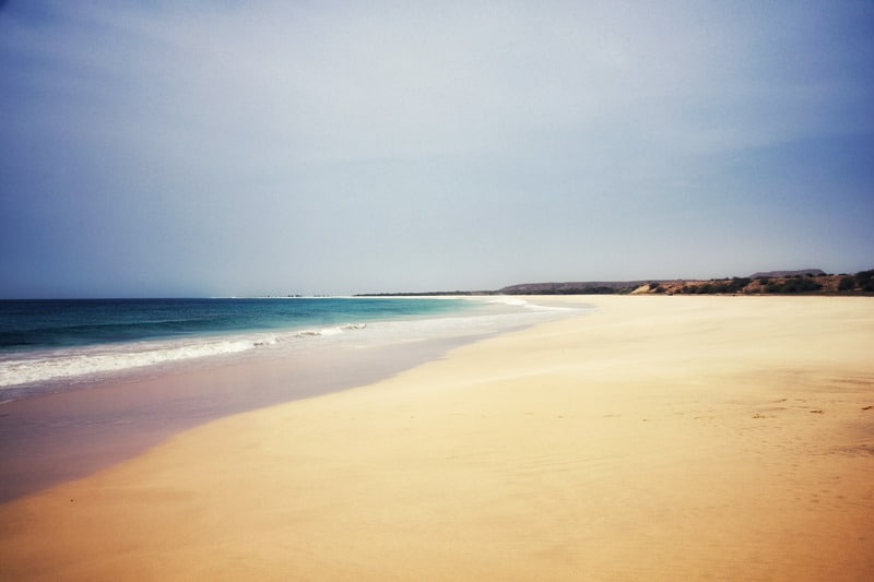 Santa Monica Beach, Boa Vista Cape Verde, things to do in boa vista
