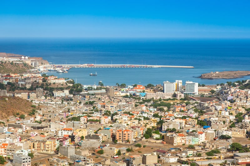 Cool Things to do in Santiago Island, Aerial view of Praia city in Santiago - Capital of Cape Verde Islands