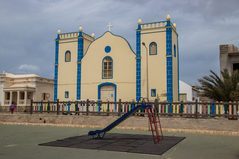 things to do in boa vista, Church in Sal Rei cape verde,