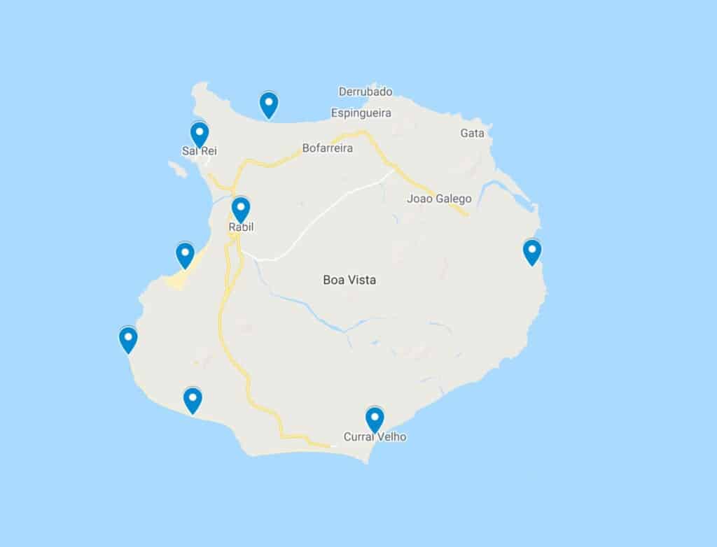 map boa vista cape verde