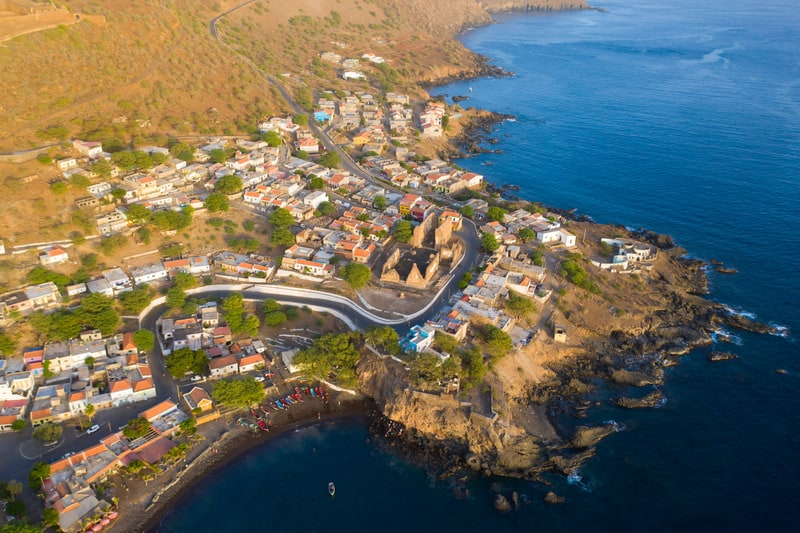 Best things to do in Santiago Island,  Cape Verde, Aerial view Cidade Velha city  in Santiago.