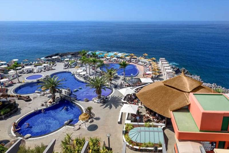 Best Family Hotels in Tenerife, Best view of resort with blue water and sky